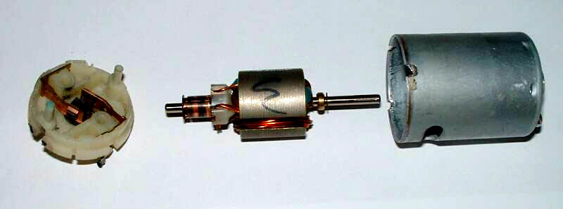 Brushed motor for How does a brushless motor work