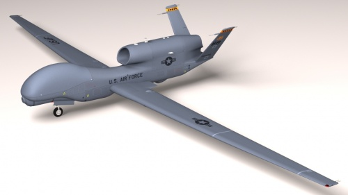 Global Hawk UAV Electric RC Plane 70mm EDF Kit - Remote