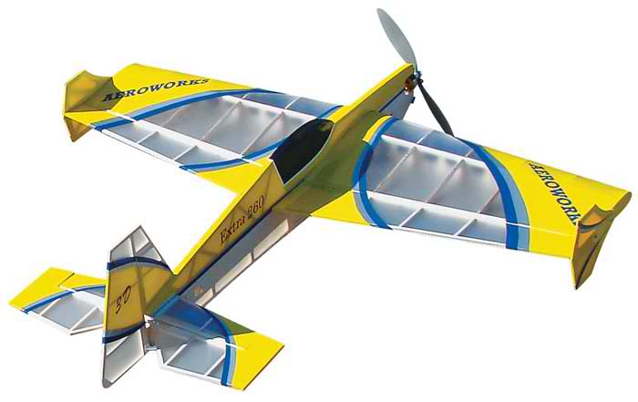 electric rc AeroWorks Extra 260 EP-3D 37 plane