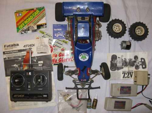 vintage Tamiya Frogger Remote Control Car