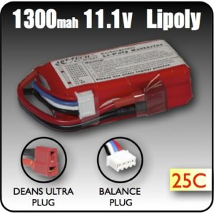 1300 Mah LiPoly Battery