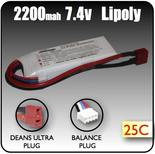 Dual Cell LiPo Battery