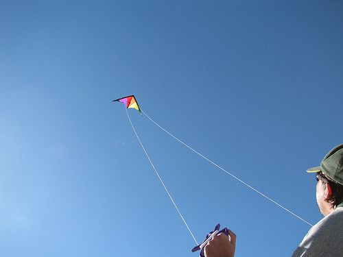 Stunt Kite Flying In Low Winds